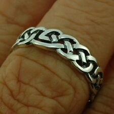 Celtic Knot Silver Band Ring, Mix US Sizes, (2.75g) Plain Solid Silver, rp145