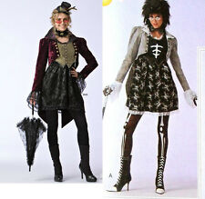 Simplicity 2525 Goth Top Hat Fascinator Hat Coat Tail Jacket Sew Pattern 14-20