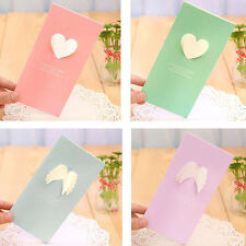 New Creative 3D Korean Greeting Cards Wings Love Hearts Postcards For Christmas