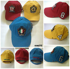 Tommy Hilfiger Country Baseball Cap,England,Italy,Brazil,One Size Fits All BNWT