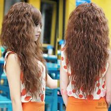Hot Women Lady Sexy Long Full Curly Wavy Hair Wigs #G Cosplay Party 3Colors USA