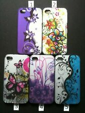 1X USA FAST SHIP SUMMER BEAUTYFUL FLOWER BUTTERFLY IPHONE 4/4S HARD CASE COVER