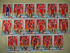 MATCH ATTAX 2014 2015 FULL TEAM 17 CARD BASE SETS MAN OF THE MATCH CARDS