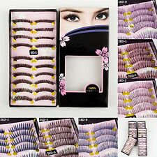 10 Pairs Women Natural Long False Eyelashes Makeup Eye Handmade Lash Lashes 007p