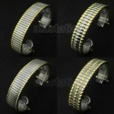 Sliver&Golden 16/17mm Stainless Steel Wrist Watch Band Flexible Elastic Stretch