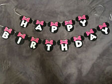 Minnie Mouse Happy Birthday Banner..Can Be Personalized! Free Shipping!!