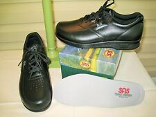 SAS TimeOut Mens Black Leather Walking Oxford Shoes NEW IN BOX