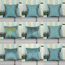 "18"" X 18"" Teal Various Embroidery Styles Cushion Covers Pillows Shell Home Decor"