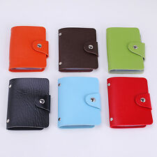 Pu Leather Pocket Business ID Credit Card Holder Case Wallet for 10 Cards