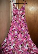 NEW WOMENS PINK FLORAL LONG MAXI CRUISE SPRING PARTY DRESS PLUS SIZE XL OR 2X