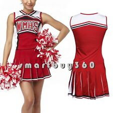 Hot Glee Cheerleader Costume Girl Students Full Outfits Fancy Dress Uniform Suit
