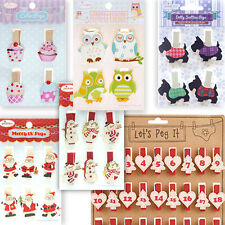 *NOTE PEG* CLIP Accessory Card Memo Wood Holder Craft Stationery Organiser Gift