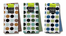 2 Pack Spots Design Tea Towel Set in a choice of colourway
