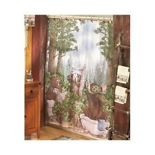 In The Woods Wild Life Bathroom Animals Log Cabin Moose Bear Lodge Country Rug