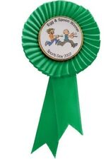 Personalised Large Quality Rosettes in 6 colors with your own text picture