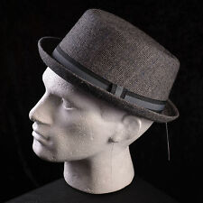 Mentari Hats Pork Pie Hat Two Tone Band Quality Winter Hat Accessory all Sizes