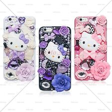 Luxury Bling Crystal Fairy Tale Kitty Handmade Case Cover for iPhone and Galaxy