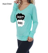 Okay Okay - The Fault In Our Stars -Long Sleeve V- Neck- Tank - Top - Tshirt