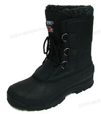 """Men's Winter Boots Water Repelle Nylon 9""""  Insulated Hiking Snow Shoes Size:6-13"""