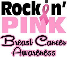 Rockin' Pink Breast Cancer Awareness Decal - Breast Cancer Sticker Ribbon