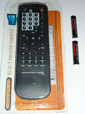 10 IN 1 UNIVERSAL REPLACEMENT for  LOST REMOTE CONTROL TV,DVD,VCR,SKY,CD PLAYER