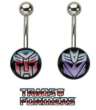 1 Pc Transformers Decepticon Or Autobot Belly Ring Hasbro Officially Licensed