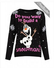 DO YOU WANT TO BUILD A SNOWMAN CHRISTMAS JUMPER DISNEY FROZEN OLAF INSPIRED