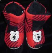 FLEECE SLIPPERS BOOTS 6 12 24 MONTHS 2T 3T 4T BABY TODDLER INFANT BOYS GIRLS