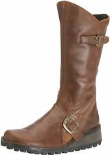 Fly london Mes Camel Brown Womens New Boots Shoes Cheap