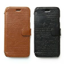 """Zenus Lettering Diary High-end PU Leather Case for Apple iPhone 6S 6 (4.7"""")"""