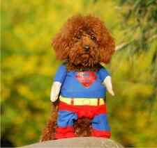 Pet Dog Cat High Quality SUPERMAN Costume Clothes Clothing with Cape