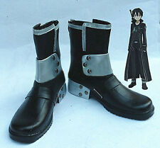 Sword Art Online Asuna Yuuki Cosplay Costume White Shoes Boots Black UK Shipping