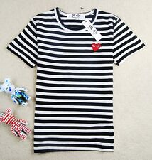 "COMME Des GARCONS CDG (1) ""PLAY RED HEART"" MEN'S SHORT SLEEVE T- SHIRT WHITE"