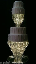 Crystal 'Ice' cake stand  1 or 2 tiers  Premium quality wedding cake stands