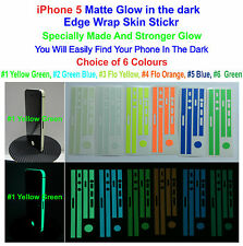 iPhone 5 - Matte Glow in the Dark Edge Wrap Skin Sticker - Choice of 5 Colours
