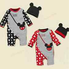 2014 New Cotton Newborn Baby Girl Boy Romper with Hat Outfit Set Fall 0~18Months