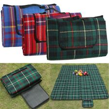 Portable Classic Plaid Waterproof Cashmere Mat Outdoor Picnic Camping Matress