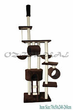 Cat Tree Scratching Post Condo Furniture Scratch Poles Bed Gym House Large