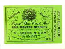 W. Smith & Son Forged Best Cast Steel Sail Makers Needles - Packs of 5 or 10