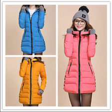 2015 new women's fall and winter clothes padded down jacket Slim Long coat XS-XL