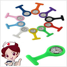Top Silicone Nurses Medical Doctors Watch Brooch Tunic Fob 10 color for Chooses