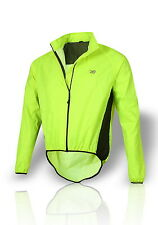 New Light Weight Vented HiVis Waterproof Cycle Cycling Bike Running Rain Jacket