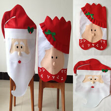 Mr & Mrs Santa Claus Christmas Dining Room Chair Cover Home Party Festive Decor