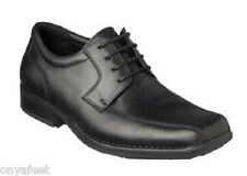 Mens HUSH PUPPIES POWER Black FORMAL/DRESS/WORK/CASUAL/LEATHER SHOES -EXTRA WIDE