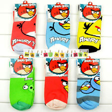 2/3/6 PAIRS KIDS BOYS GIRLS ANGRY BIRDS CARTOON TV MOBILE GAME CHARACTER SOCKS