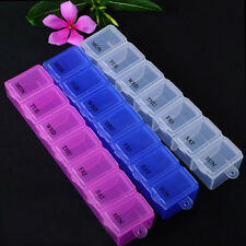 7 Day Weekly Pill Medicine Box Holder Storage Organizer Container Case