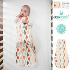 ergoPouch 1.0 TOG ergoCocoon Baby Swaddle Sleeping Bag 2-in-1, Blush Leaf