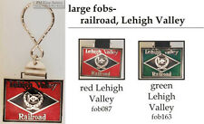 Lehigh Valley Railroad fobs, various designs & keychain options