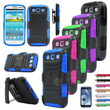 Rugged Armor Hybrid COVER W/Holster Phone case For Samsung Galaxy S3 SIII i9300