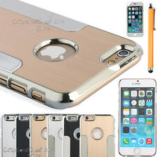 "Luxury Metal Brushed Aluminum Chrome Hard Case Cover For iPhone 6 4.7"" W/Guard"